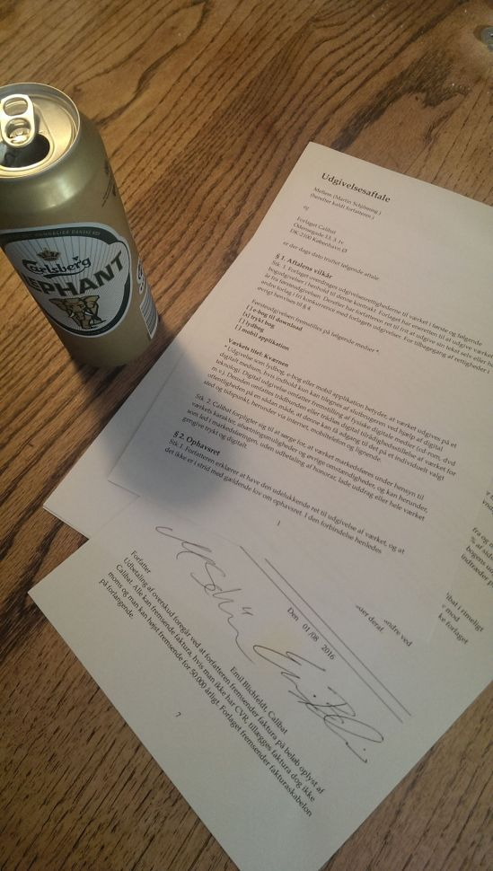calibat kontrakt med øl